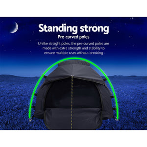 Weisshorn Camping Swags Single Biker Swag Grey Ripstop Canvas