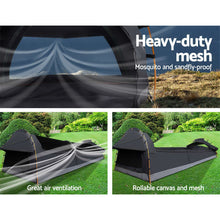 Load image into Gallery viewer, Weisshorn Camping Swags King Single Swag Canvas Tent Deluxe Dark Grey Large