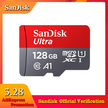 Load image into Gallery viewer, SanDisk Micro SD Card 16GB 32GB 64GB 128GB 256GB 400GB Memory Card C10 U1 A1 Flash TF Microsd Card for Phone Computer SDXC SDHC