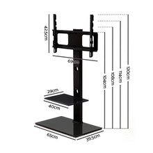 Load image into Gallery viewer, Artiss Floor TV Stand with Bracket Shelf Mount