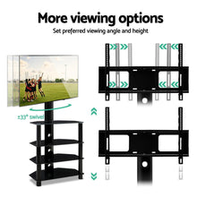 Load image into Gallery viewer, Artiss TV Mount Stand Swivel Bracket 3 Tier Floor Shelf 32 to 50 inch Universal