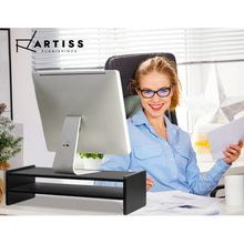 Load image into Gallery viewer, Artiss Computer Monitor Riser - Black