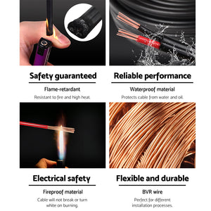 2.5MM Electrical Cable Twin Core Extension Wire 30M Car Solar Panel 450V