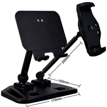 Load image into Gallery viewer, Universal and Adjustable Double Arm Stand Holder Black