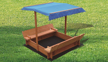 Load image into Gallery viewer, Kids Wooden Toy Sandpit with Canopy