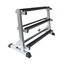 Load image into Gallery viewer, 3 Tier Dumbbell Rack for Dumbbell Weights Storage