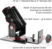 "Load image into Gallery viewer, T Bar Row Landmine Platform 360° Swivel Fits 1"", 2"" Olympic Bars"