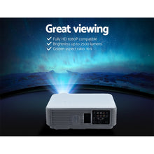 Load image into Gallery viewer, Devanti Mini Video Projector Portable HD 1080P 2500 Lumens Home Theater USB VGA