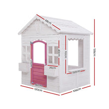 Load image into Gallery viewer, Kids Cubby House Wooden Outdoor Childrens Gift Pretend Play Set