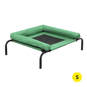 PaWz Pet Bed Heavy Duty Frame Hammock Bolster Trampoline Dog Puppy Mesh S Green