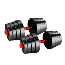 Load image into Gallery viewer, Dumbbells Barbell Weight Set 30KG Adjustable Rubber Home GYM Exercise Fitness