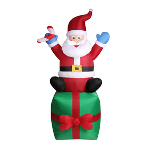 Inflatable Christmas Santa Snowman with LED Light Xmas Decoration Outdoor Type 4