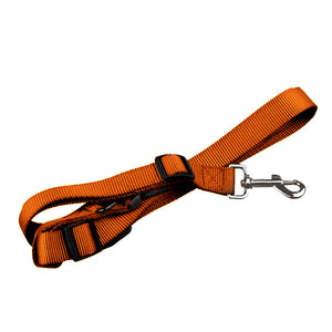 Adjustable Dog Hands Free Leash Waist Belt Buddy Jogging Walking Running Orange