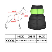 Load image into Gallery viewer, PaWz Dog Winter Jacket Padded  Pet Clothes Windbreaker Vest Coat 4XL Green