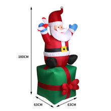 Load image into Gallery viewer, Inflatable Christmas Santa Snowman with LED Light Xmas Decoration Outdoor Type 4