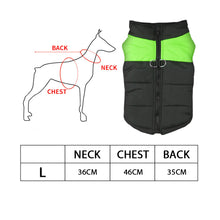 Load image into Gallery viewer, PaWz PaWz Dog Winter Jacket Padded  Pet Clothes Windbreaker Vest Coat  L Green