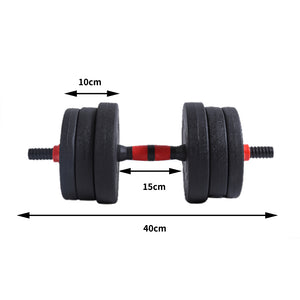 Dumbbells Barbell Weight Set 20KG Adjustable Rubber Home GYM Exercise Fitness