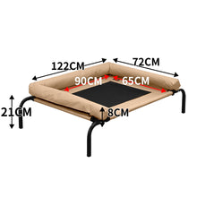 Load image into Gallery viewer, PaWz Pet Bed Heavy Duty Frame Hammock Bolster Trampoline Dog Puppy Mesh S Tan