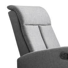 Load image into Gallery viewer, Levede Recliner Chair Chairs Armchair Sofa Lounge Couch Padded Grey Fabric