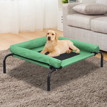Load image into Gallery viewer, PaWz Pet Bed Heavy Duty Frame Hammock Bolster Trampoline Dog Puppy Mesh S Green