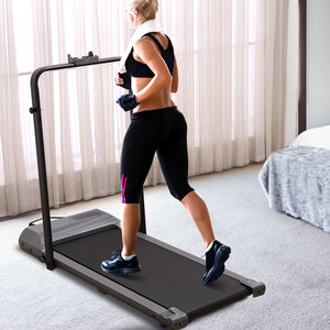 Electric Treadmill Walking Pad Home Office Gym Exercise Fitness Foldable Compact