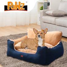 Load image into Gallery viewer, PaWz Pet Bed Dog Puppy Beds Cushion Pad Pads Soft Plush Cat Pillow Mat Blue L