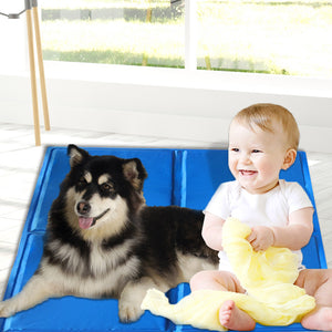 PaWz Pet Cooling Mat Gel Mats Bed Cool Pad Puppy Cat Non-Toxic Beds Summer Pads 96x81