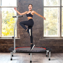 "Load image into Gallery viewer, 40"" Fitness Trampoline Foldable Mini Rebounder Handrail Cardio Exercise Trainer"