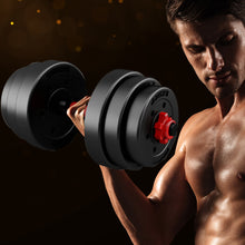 Load image into Gallery viewer, Dumbbells Barbell Weight Set 20KG Adjustable Rubber Home GYM Exercise Fitness