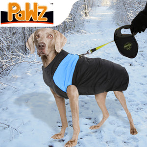 PaWz PaWz Dog Winter Jacket Padded Pet Clothes Windbreaker Vest Coat 5XL Blue