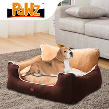 Load image into Gallery viewer, PaWz Pet Bed Dog Puppy Beds Cushion Pad Pads Soft Plush Cat Pillow Mat Brown M