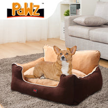 Load image into Gallery viewer, PaWz Pet Bed Dog Puppy Beds Cushion Pad Pads Soft Plush Cat Pillow Mat Brown L