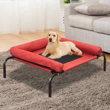 Load image into Gallery viewer, PaWz Pet Bed Heavy Duty Frame Hammock Bolster Trampoline Dog Puppy Mesh S Red