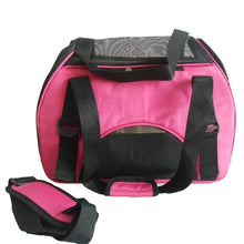 Load image into Gallery viewer, Folding Pet Carry Bag Oxford Breathable Mesh Cat Carriers Outside Portable Dog Travel Bag Waterproof
