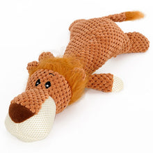 Load image into Gallery viewer, HOOPET Pet Toy Animal Shape Lion Elephant Sound Chew Three Colors Interactive Toys