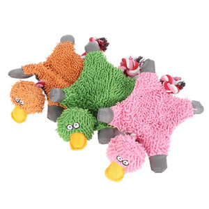Lovely 32*19cm Pet Supply Cute Papa Duck Plush Dog Toy With Rope Dog Toys