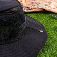 Load image into Gallery viewer, Outdoor Mesh Sunshade Fisherman Fishing Hat Sun Cap Bucket Hat with String Wide Brim Hat for Men
