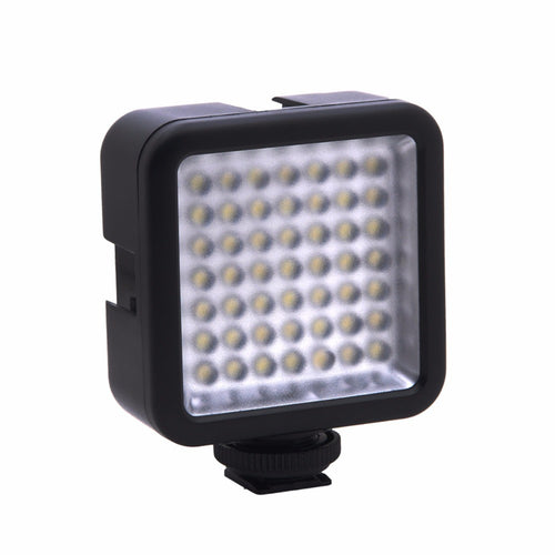 W49 Mini Interlock Camera LED Vdieo Light Dimmable Camcorder Panel Lamp W/ Shoe Mount Adapter for Canon Nikon Sony DSLR