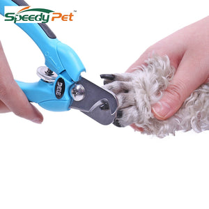 Safely Pet Nail Trimmer Adjustable Stainless Steel Nail Clippers Blades with Safety Guard and Nail File for Dogs Cats Paw prune