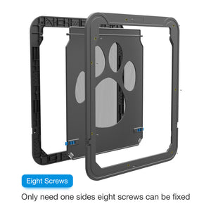 Lockable Cat Flap Magnetic Door Innovative  Auto-close Gauze Window Door For Small Medium Large Dog  Safe Pet Supplies