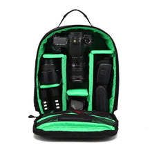 Load image into Gallery viewer, Waterproof multi-functional Digital DSLR Camera Video Bag w/ Rain Cover Small SLR Camera Laptop Bag for Photographer HU-04