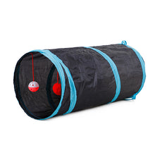 Load image into Gallery viewer, 6 Color Funny Pet Cat Tunnel 2 Holes Play Tubes Balls Collapsible Crinkle Kitten Toys Puppy Ferrets Rabbit Play Dog Tunnel Tubes