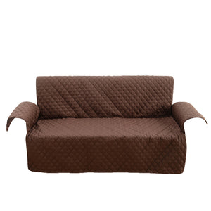 Comfortable Sofa Slipcover Waterproof Pets Dog Cat Sofa Chair Cover Furniture Protector 153x180cm(Coffee)