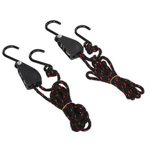 Load image into Gallery viewer, 2 PCS Pulley Ratchets Kayak and Canoe Boat Bow and Stern Rope Lock Tie Down Strap  Heavy Duty Adjustable Rope Hanger