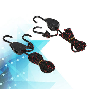 2 PCS Pulley Ratchets Kayak and Canoe Boat Bow and Stern Rope Lock Tie Down Strap  Heavy Duty Adjustable Rope Hanger