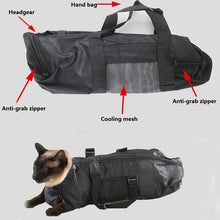 Load image into Gallery viewer, Cat Grooming Medical Care Products Pet Cat Cat Restraint Bag with Handle for Bath Prevent Kitten Claw Scratch Pet Cat Supplies