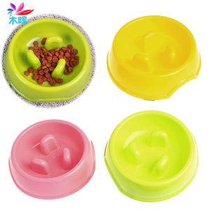 Pet Dog Puppy Anti Gulping Slow Down Food Water Eating Bowl Feeder Dish Healthy MAR24_15