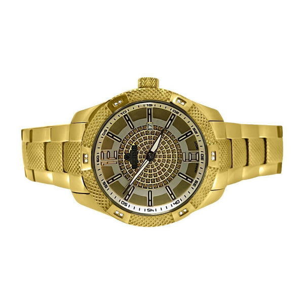 Yellow Gold Diamond Supernova .12cttw Genuine Diamond Watch - Green Box Jewellers
