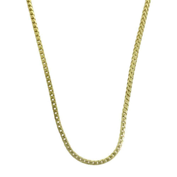 .925 Sterling Silver 1.5MM Yellow Gold Franco Chain - Green Box Jewellers