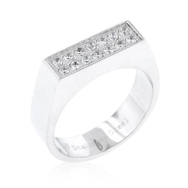 Mens Double Row Diamond Ring Band - Green Box Jewellers